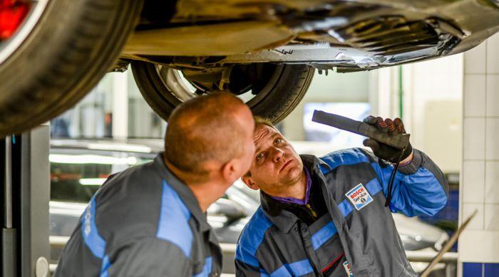 Диагностика подвески автомобиля Форд